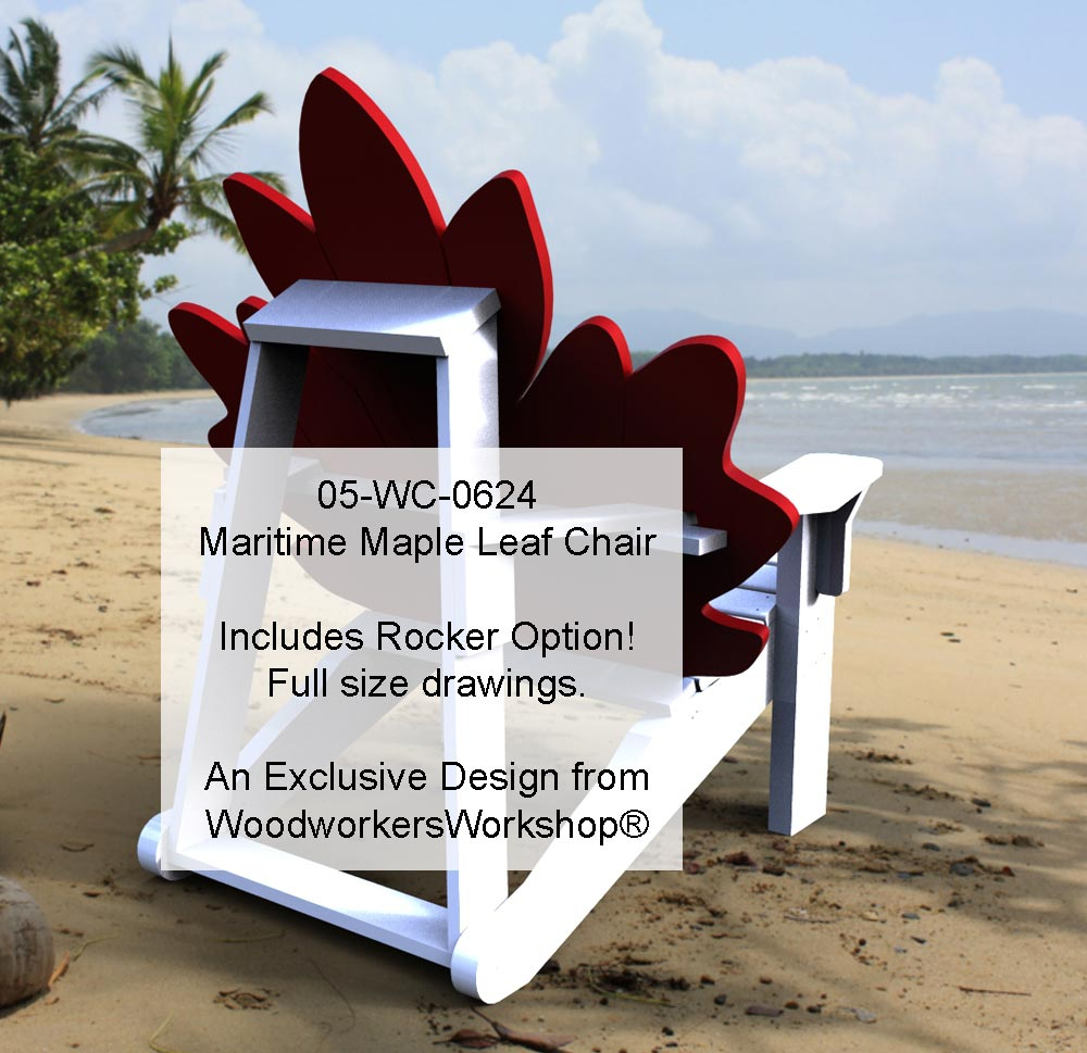05-WC-0624E -  Maritime Maple Leaf Chair Woodworking Plan
