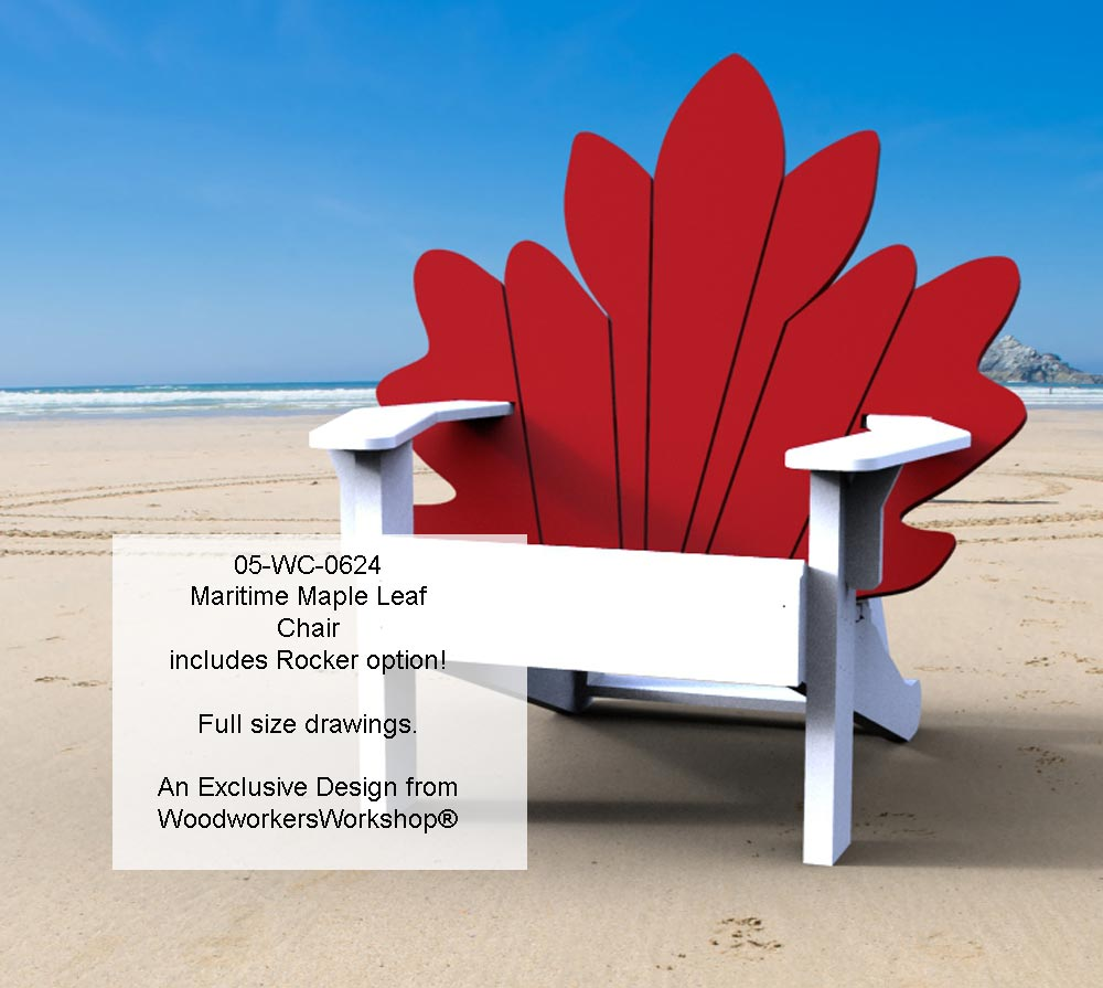 Maritime Maple Leaf Chair Woodworking Plan