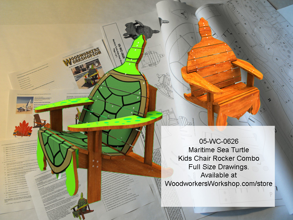 Maritimes Sea Turtle Kids Chair Rocker Combo Woodworking Plan woodworking plan