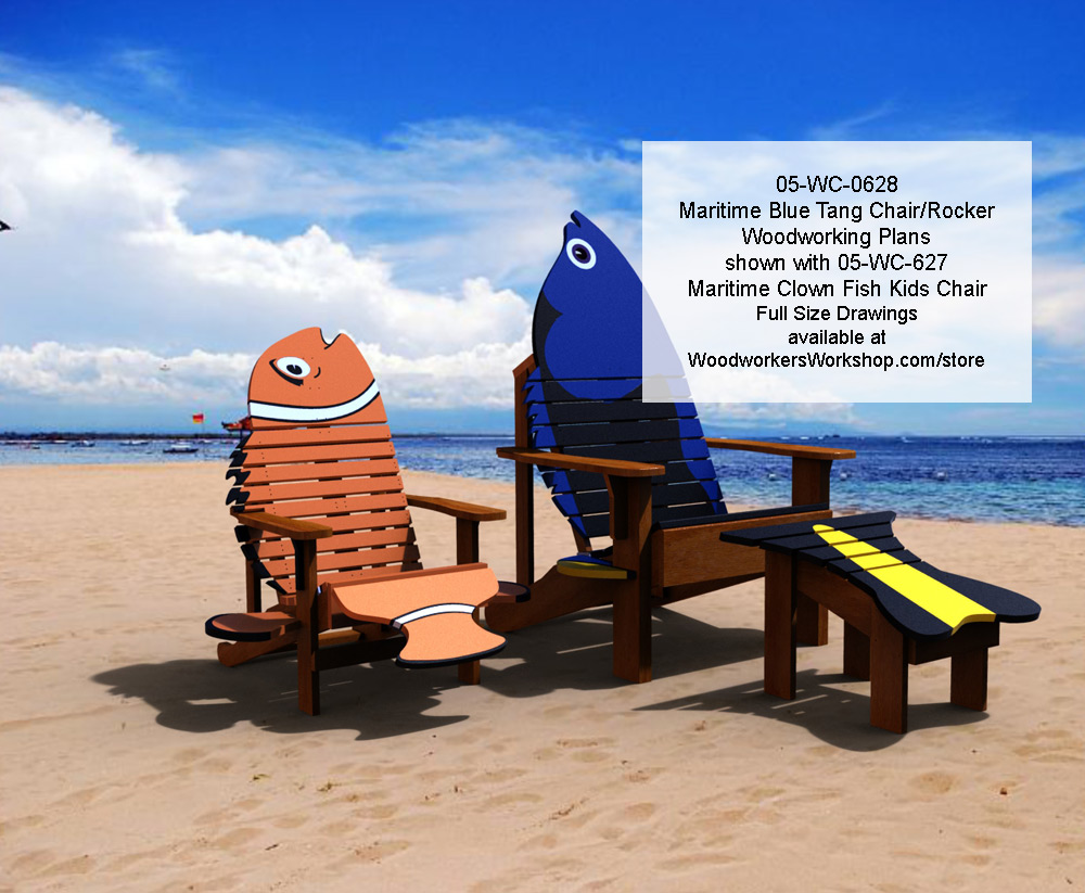 Maritime Blue Tang Chair and Rocker Woodworking Plan woodworking plan