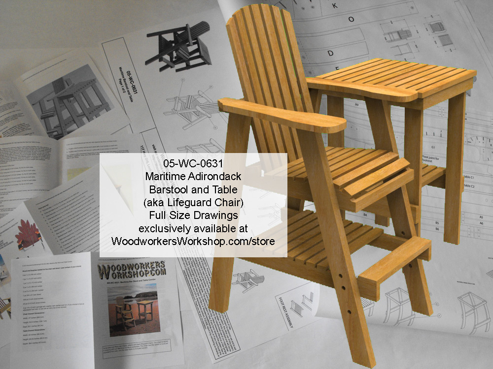 Maritime Bar Stool and Table Combo Full Size Woodworking Plans. woodworking plan