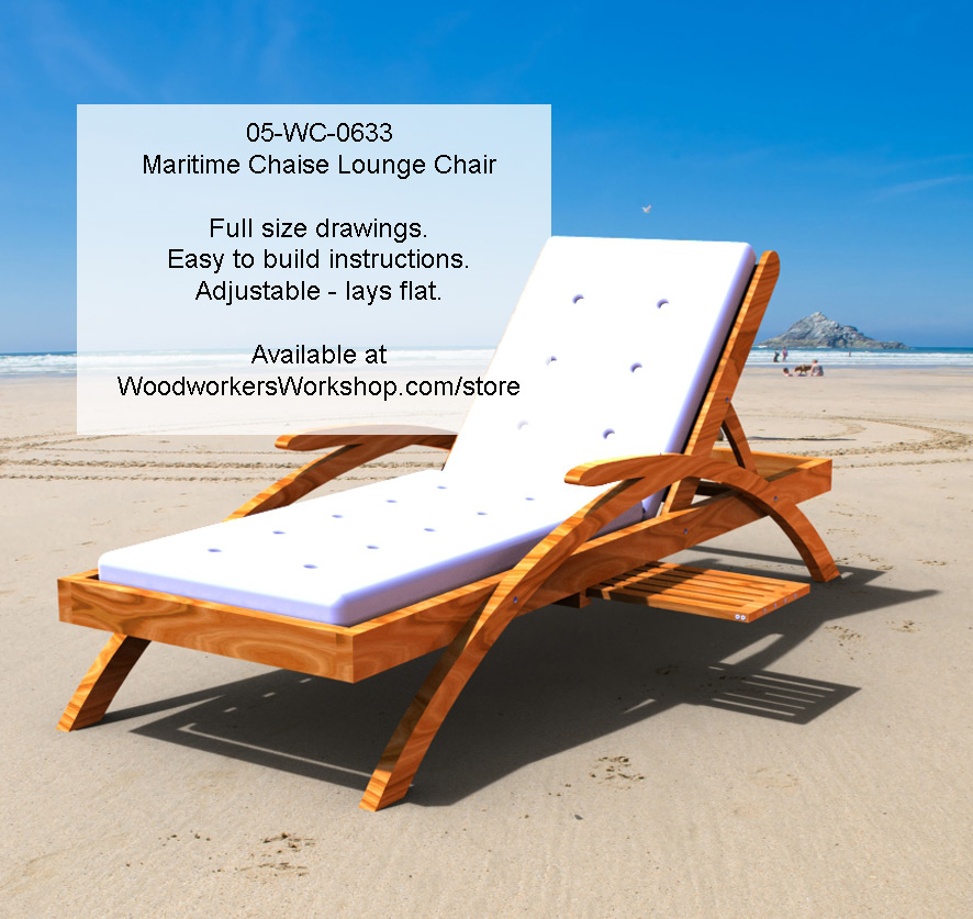 05 wc 0633e maritime chaise lounge chair woodworking for Chaise longue plans