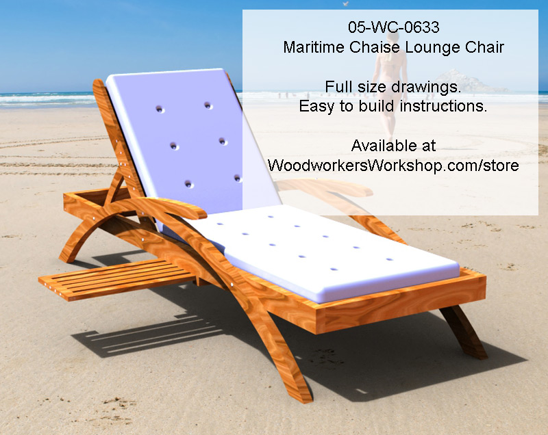05-WC-0633E - Maritime Chaise Lounge Chair Woodworking Plan