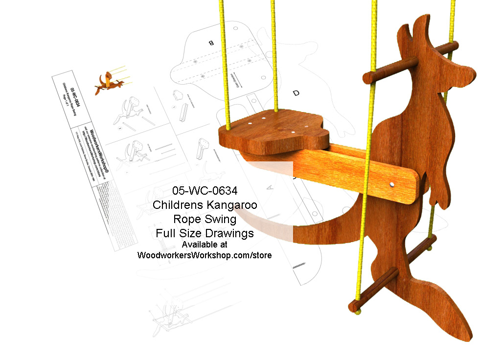 05-WC-0634E - Childrens Kangaroo Rope Swing Woodworking Plan