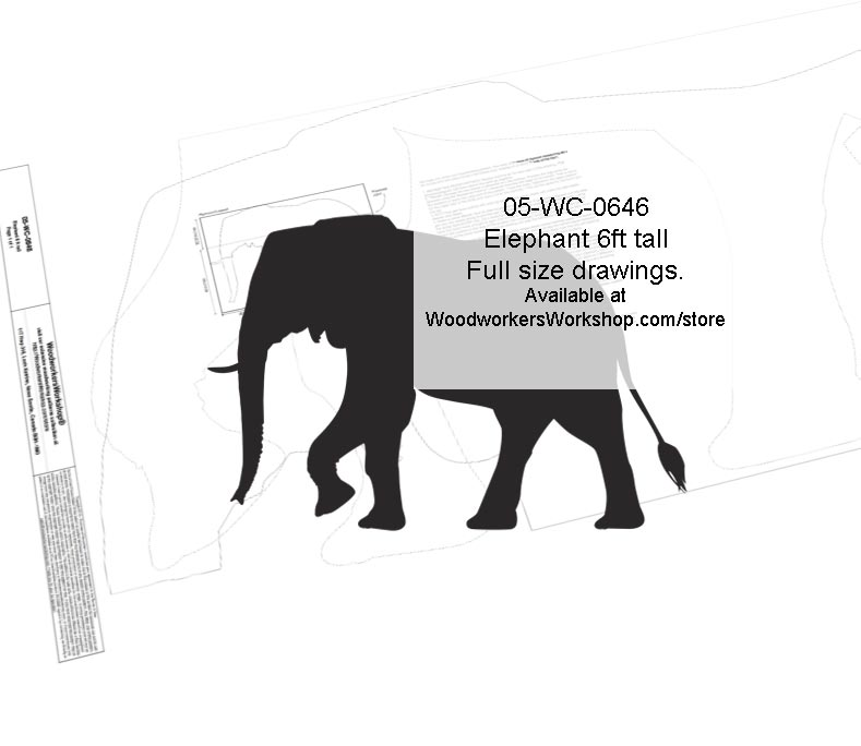 Elephant 6ft tall Yard Art Woodworking Pattern