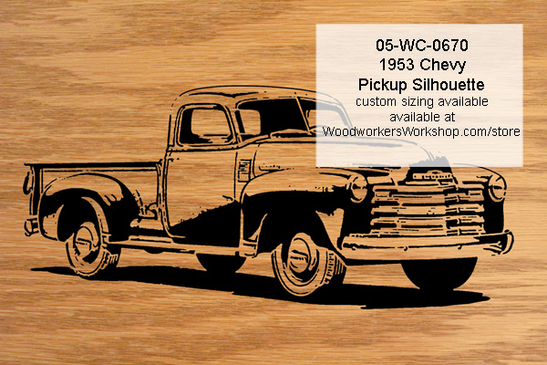 1953 Chevy Pickup Truck Scrollsaw Silhouette