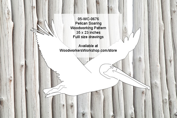Pelican Soaring Yard Art Woodworking Pattern