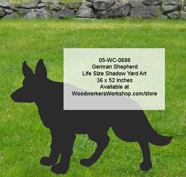 German Shepherd Life Size Yard Art Woodworking Pattern