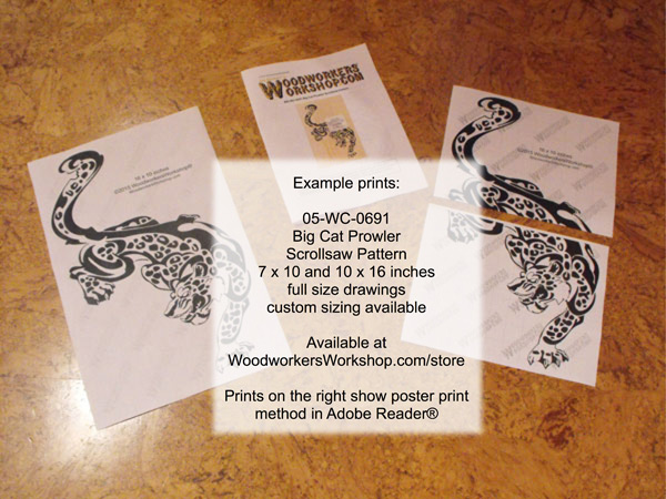 Big Cat Prowler Scrollsaw Art Woodworking Pattern - 2 sizes included