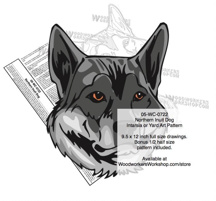 Northern Inuit Dog Intarsia or Yard Art Woodworking Pattern