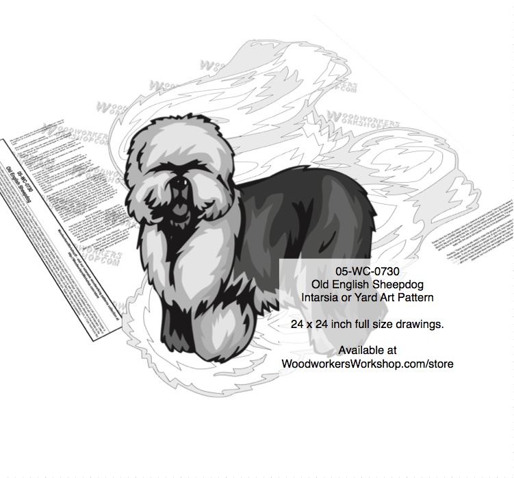 Old English Sheepdog Yard Art Woodworking Pattern