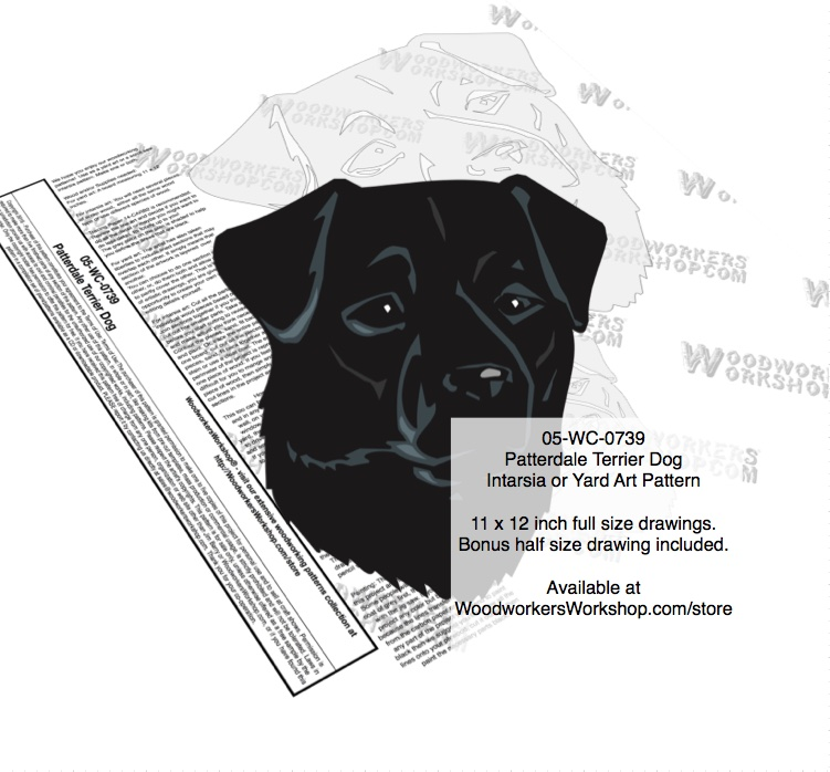 Patterdale Terrier Dog Intarsia or Yard Art Woodworking Pattern