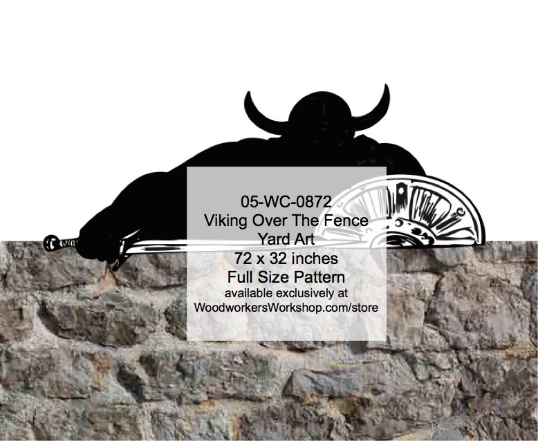 Viking Over The Fence Yard Art Woodworking Pattern