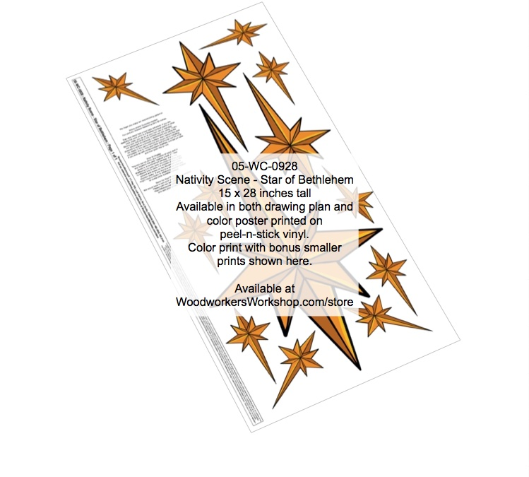 Nativity Scene - Star of Bethlehem Yard Art Woodworking Pattern