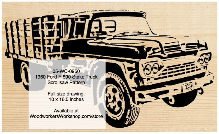 1960 Ford F-500 Stake Body Truck Scrollsaw Woodworking Pattern