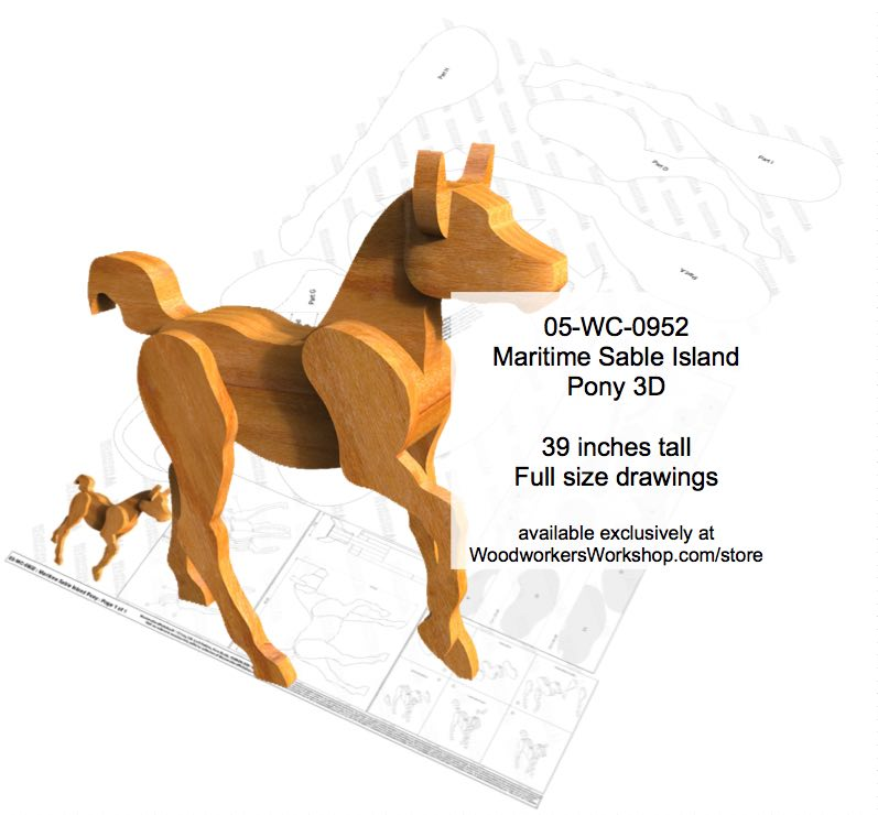 3D Maritime Sable Island Pony Woodworking Pattern woodworking plan