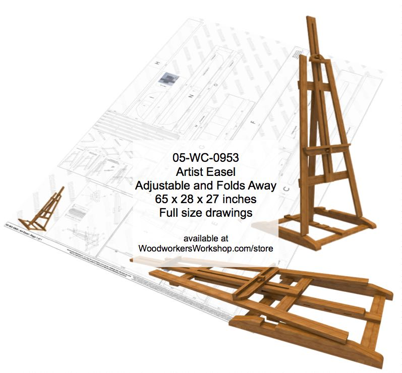Artist Rack Adjustable Woodworking Plan woodworking plan
