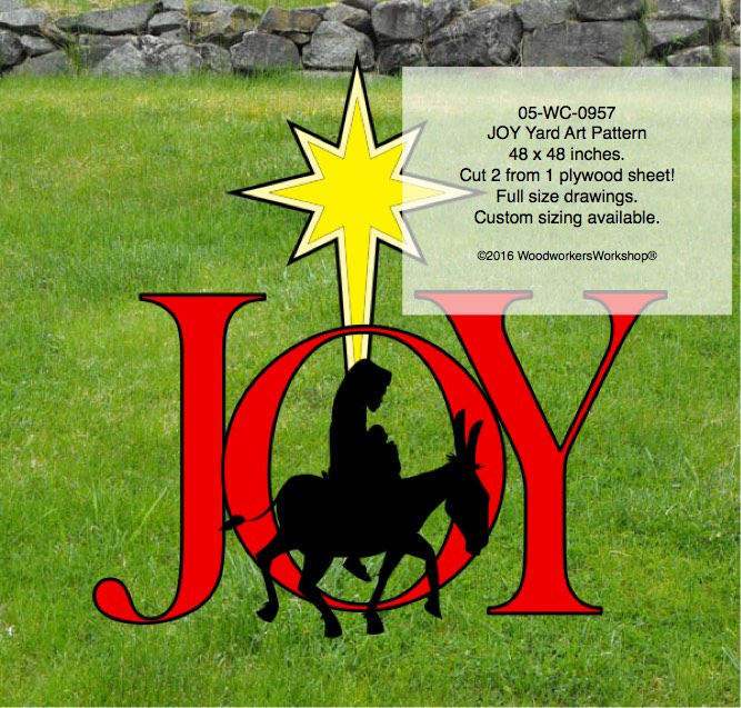 JOY Word Yard Art Woodworking Pattern