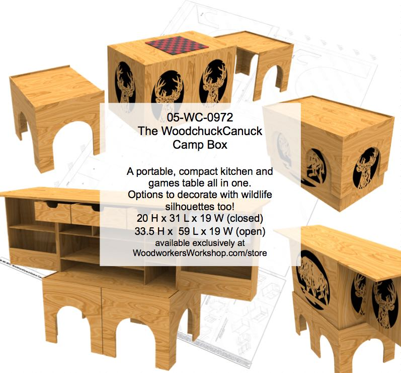 The WoodchuckCanuck Kitchen Camp Box Woodworking Plan woodworking plan
