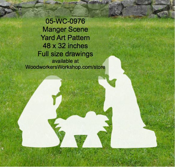 05-WC-0976 - Manger Scene Yard Art Woodworking Pattern