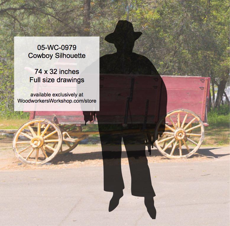 Cowboy Silhouette Western Yard Art Woodworking Pattern - WoodworkersWorkshop 3719a38281a9