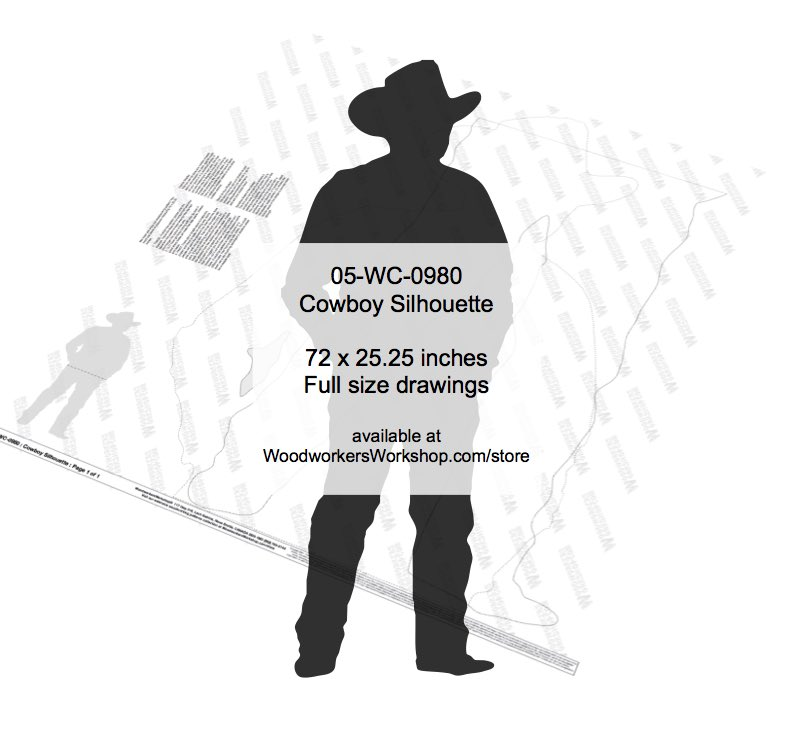 Cowboy Silhouette Ranch Yard Art Woodworking Pattern