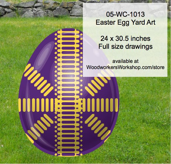 05-WC-1013 - Easter Egg Yard Art Woodworking Pattern