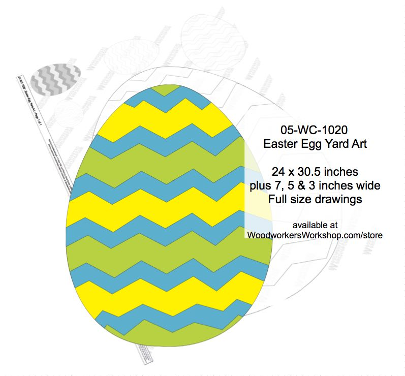 05-WC-1020 - Easter Egg Yard Art Woodworking Pattern