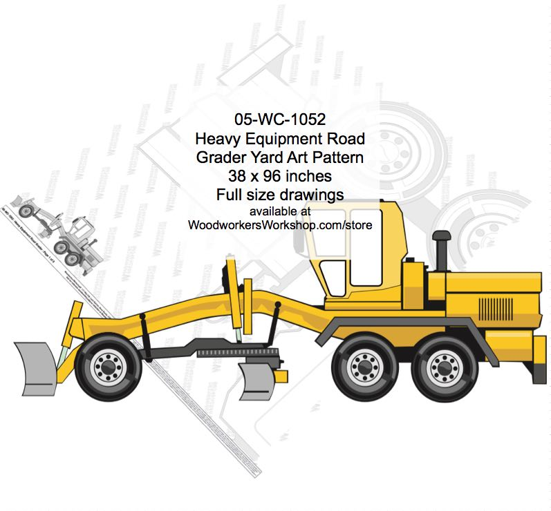 Heavy Equipment Road Grader Yard Art Woodworking Pattern