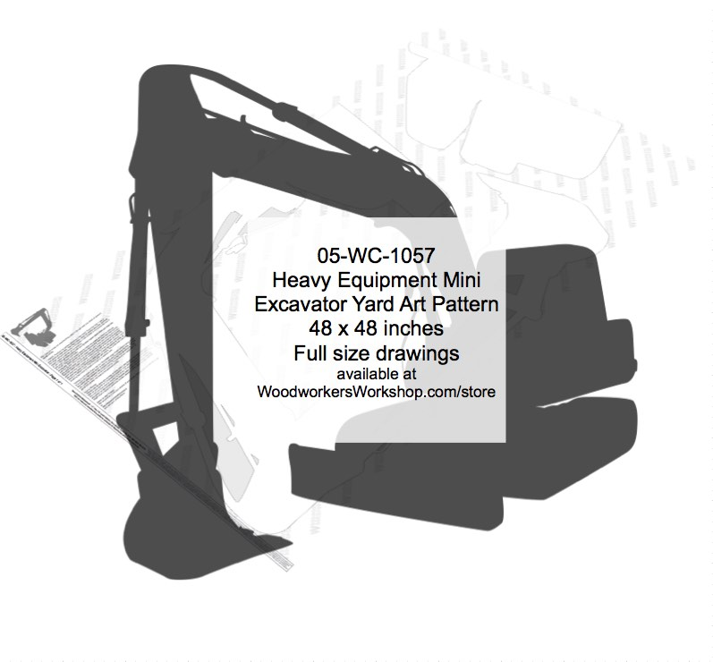 Heavy Equipment Mini Excavator Woodworking Pattern