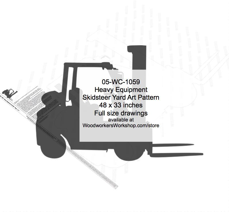 Heavy Equipment Forklift Woodworking Pattern