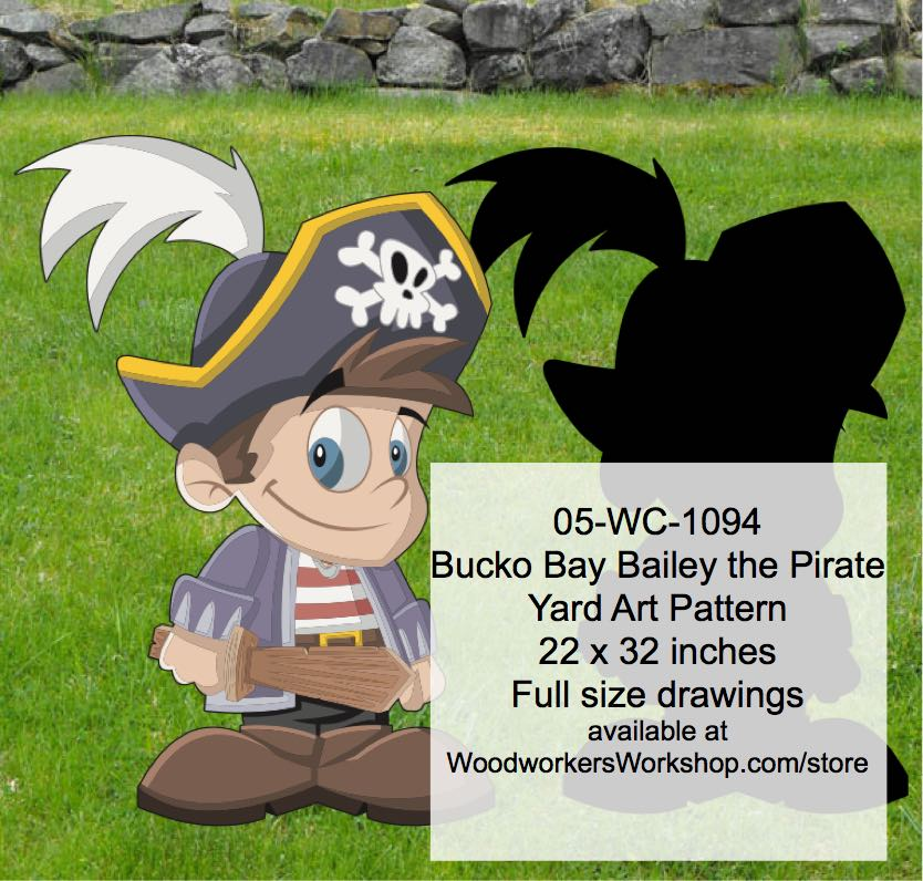 Bucko Bay Bailey the Pirate Yard Art Woodworking Pattern woodworking plan