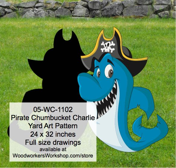 05-WC-1102 - Pirate Chumbucket Charlie Yard Art Woodworking Pattern
