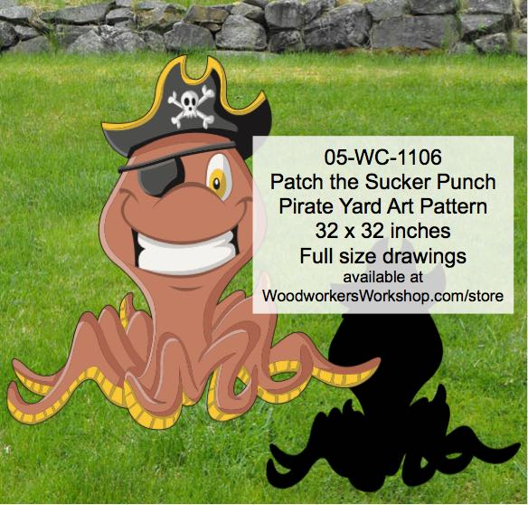Patch the Sucker Punch Pirate Yard Art Woodworking Pattern