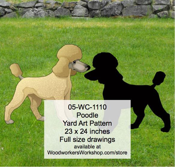 Poodle Yard Art Woodworking Pattern