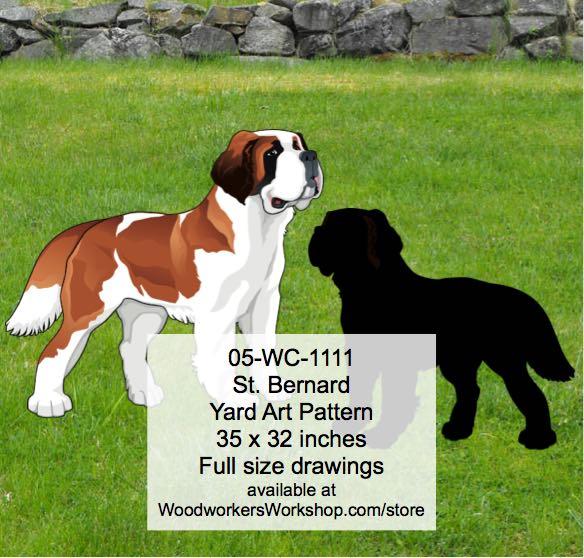 st bernard yard art woodworking pattern woodworkersworkshop