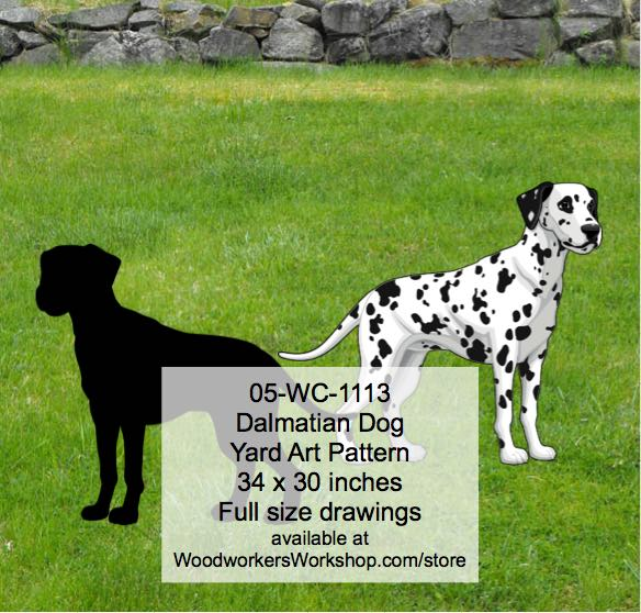 Dalmatian Dog Yard Art Woodworking Pattern
