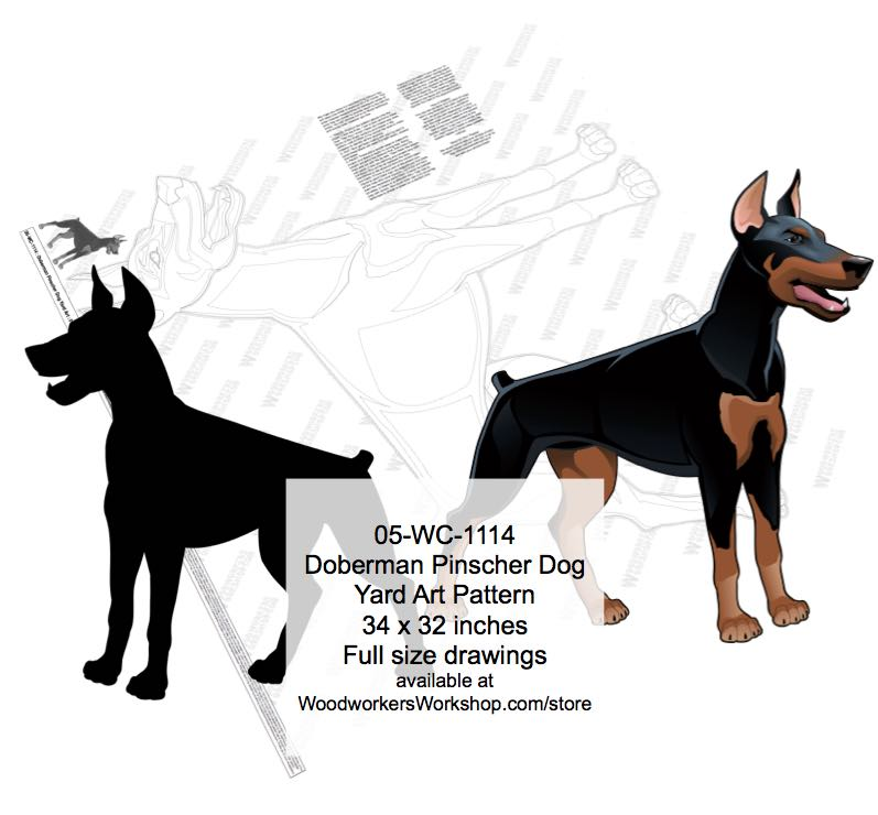 05-WC-1114 - Doberman Dog Yard Art Woodworking Pattern