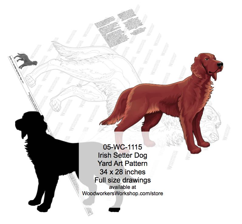 Irish Setter Dog Yard Art Woodworking Pattern