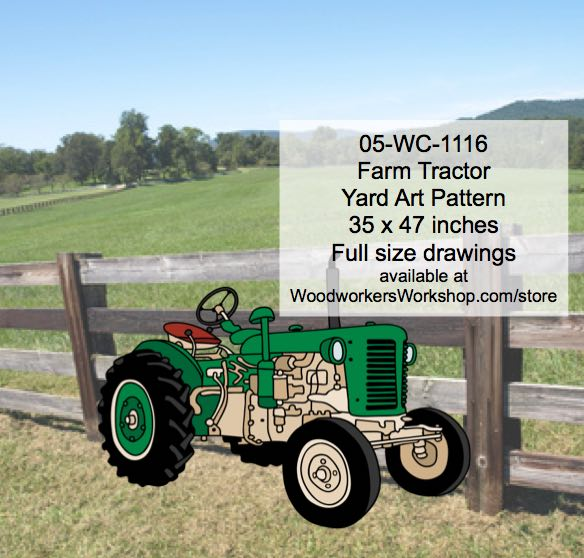 Farm Tractor Yard Art Woodworking Pattern woodworking plan