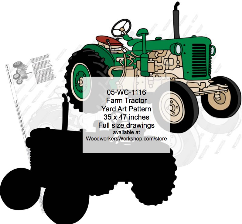 05-WC-1116 - Farm Tractor Yard Art Woodworking Pattern