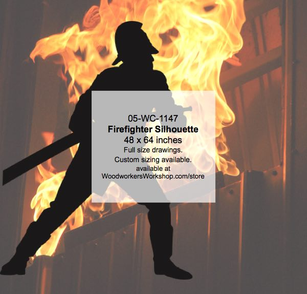 Firefighter Silhouette Woodworking Pattern woodworking plan