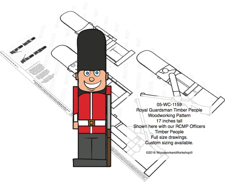05-WC-1159 - Royal Guardsman Timber People Woodworking Pattern