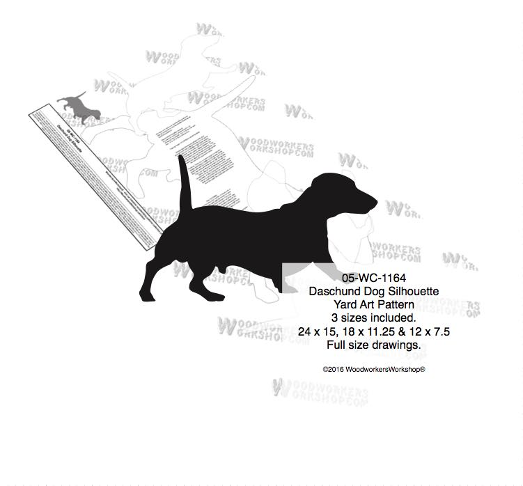 Dachshund Dog Silhouette Yard Art Woodworking Pattern woodworking plan