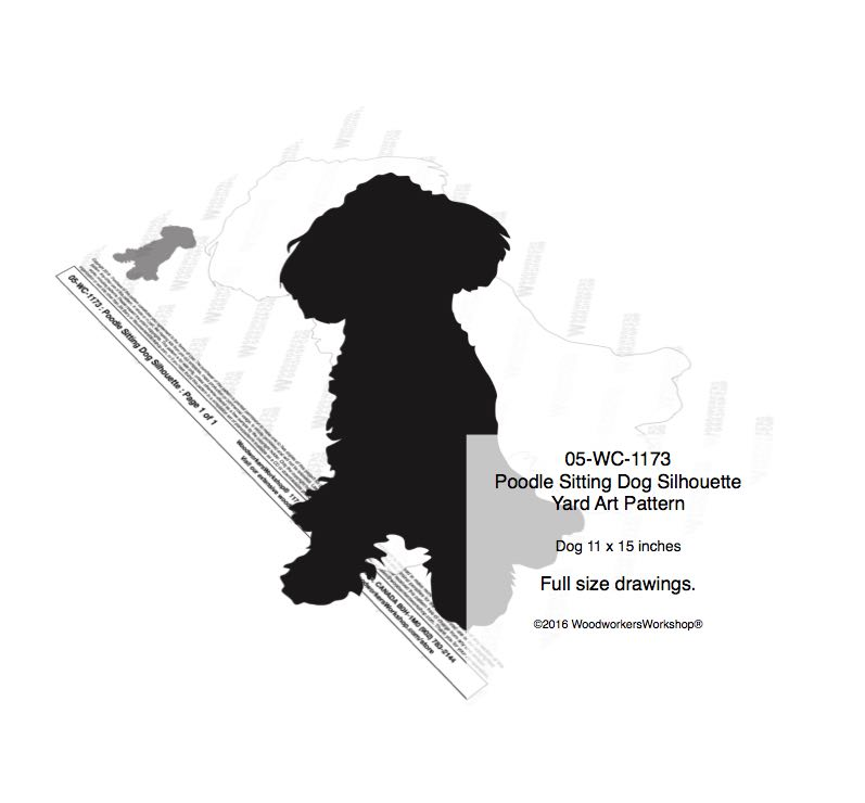 Poodle Sitting Dog Silhouette Yard Art Woodworking Plan