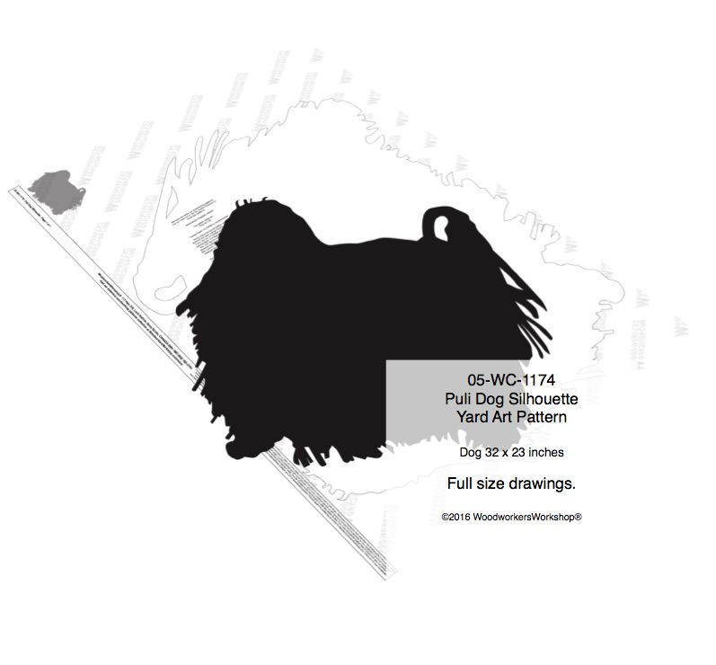 Puli Dog Silhouette Yard Art Woodworking Pattern