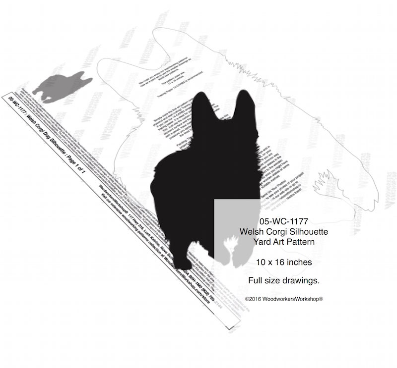 Welsh Corgi Dog Silhouette Yard Art Woodworking Pattern