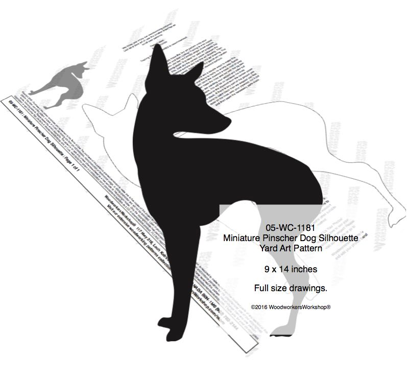 Miniature Pinscher Dog Silhouette Yard Art Woodworking Pattern woodworking plan