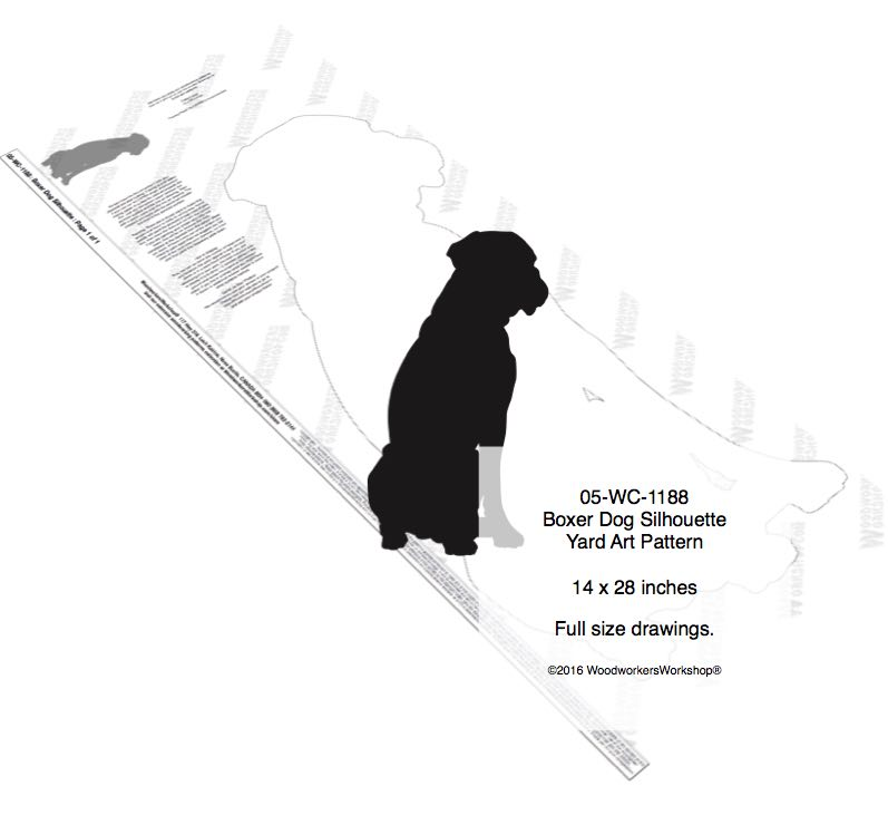 Boxer Dog Silhouette Yard Art Woodworking Plan woodworking plan