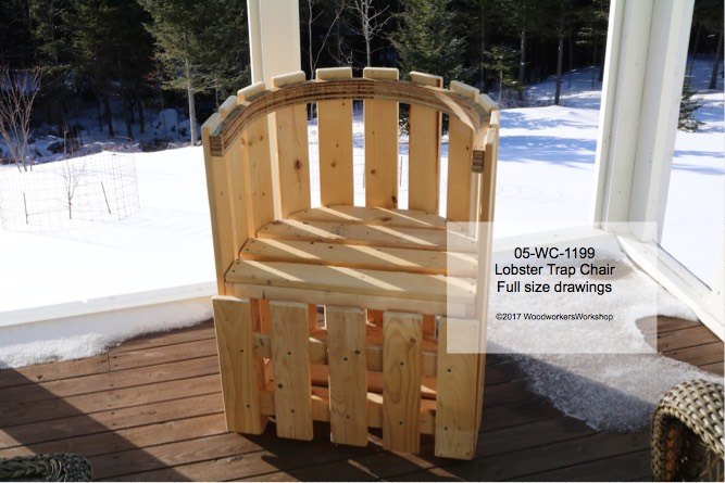 05-WC-1199 - Lobster Trap Chair Woodworking Pattern